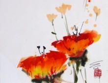 Poppies poppin'  12×12″